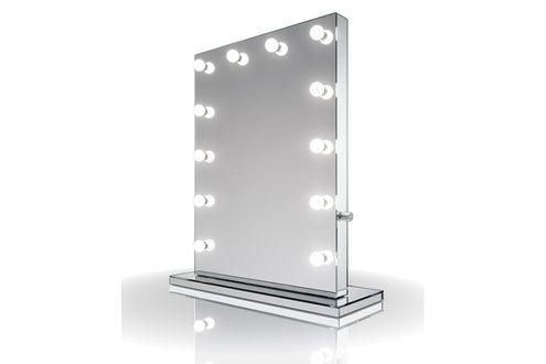 Miroir De Salle De Bain Diamond X Collection Miroir De Maquillage Hollywood Rond Finition Miroir Led Blanc Avec Images Miroir Led Miroir Maquillage Miroir De Salle De Bain