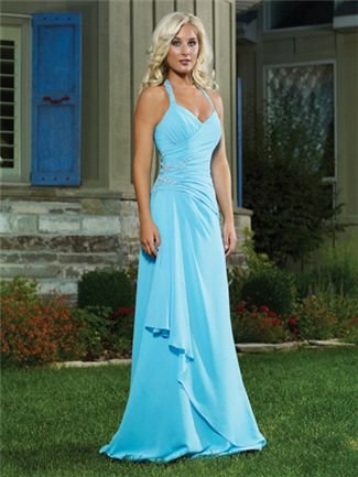 Baby-Blue-Bridesmaid-Dress/So simple but yet so pretty at the same time. I love it. I just wish I had somewhere to wear something like it.