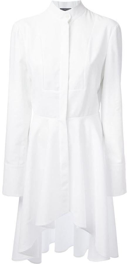 McQ by Alexander McQueen asymmetric shirt dress - ShopStyle