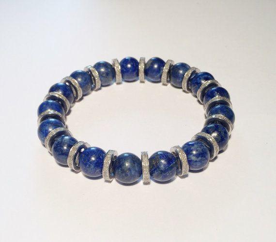 Diamond bracelet, handmade blue bracelet with diamond, diamond jewel, woman gift, FREE SHIPPING
