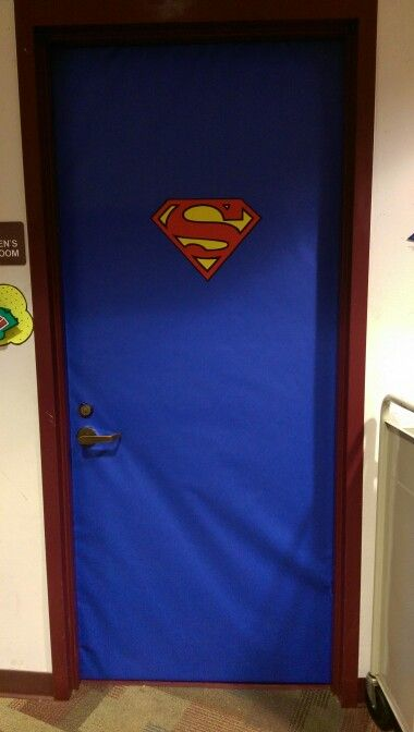 Superman Decoration And Doors On Pinterest