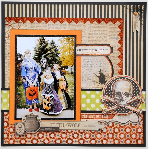 107 best scrapbook halloween layouts images on pinterest my minds eye halloween layout pronofoot35fo Image collections