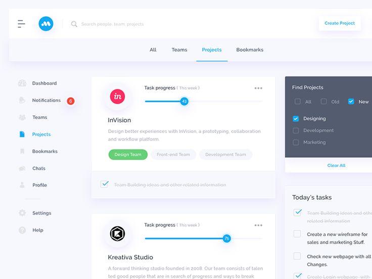 Projects UI by Mandeep Kundu