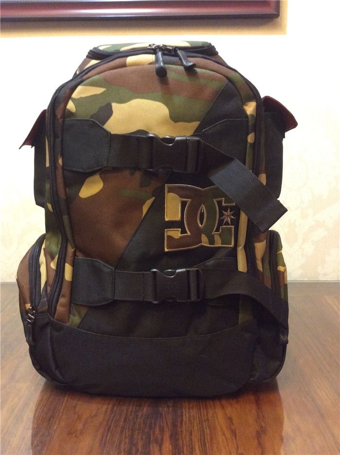 48.88$  Buy here - http://ali6yt.worldwells.pw/go.php?t=32565288615 - Men  School Skate boarding Bag Large Capacity Soft Laptop DCSHOE Military Mochila