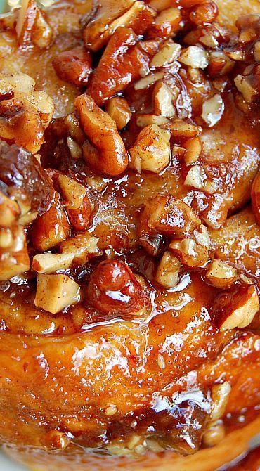Buttermilk Cinnamon Pecan Rolls ~ A cross between a cinnamon roll and a sticky bun... Deliciousness!