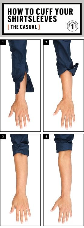How to cuff your shirt sleeves - The Casual Via
