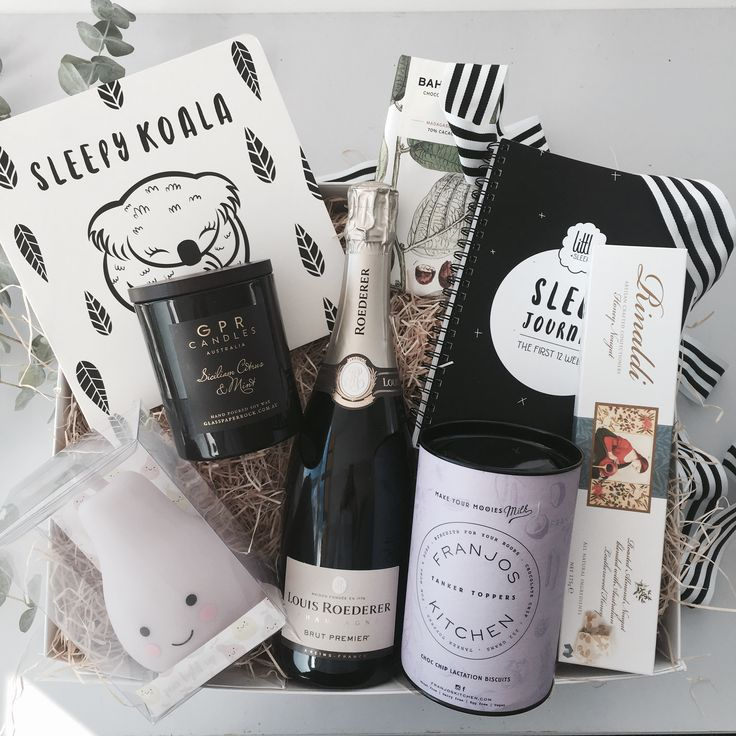 Welcome to the world little one, here's the ultimate package of celebration and love, caring for both mum and bub. Pop the cork, dim the lights and pray for sleep.  Packaged beautifully in our extra large black box and wrapped perfectly in kraft paper and tied with a bow. This gift will be sure to spoil a well deserving new mum.