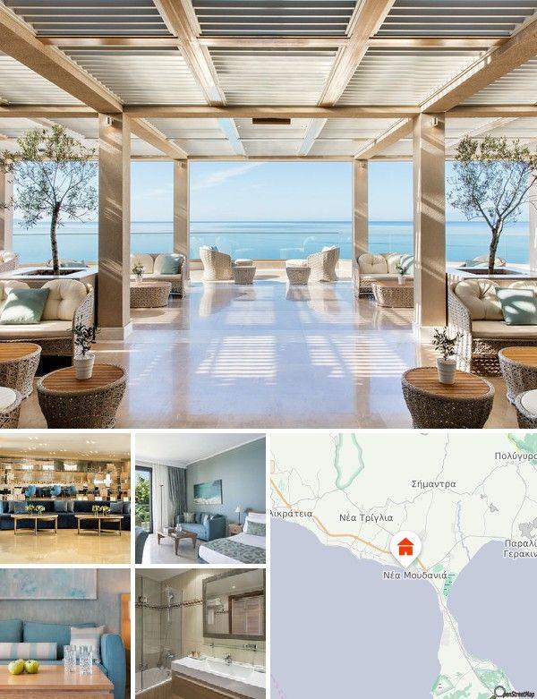 L'hôtel est situé à Nea Moudania, Kassandra, en Macédoine. Son littoral sinueux se distingue par 4 grands golfes: le golfe Thermaïque à l'ouest, le golfe d'Orfanou à l'est, ainsi que le golfe de Toroni et le golfe du mont Athos au sud. Les 3 pointes couvrent une superficie de 2945 km² et comptent 79 000 habitants. Cet hôtel de bord de mer se trouve également à 1,5 km du centre-ville abritant notamment des gares routière et ferroviaire. L'hôtel donne directement sur la plage.