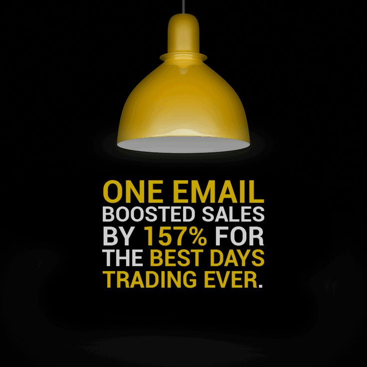 One email boosted sales by 157% for the best days trading ever.  Our client's luxury brand sales went up by 67%...during a recession.  #adsynergy #itswhatwedo