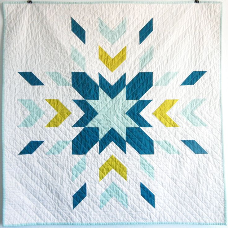 Glacier Lake Modern Solid Baby Quilt by JenniferMeakins on Etsy