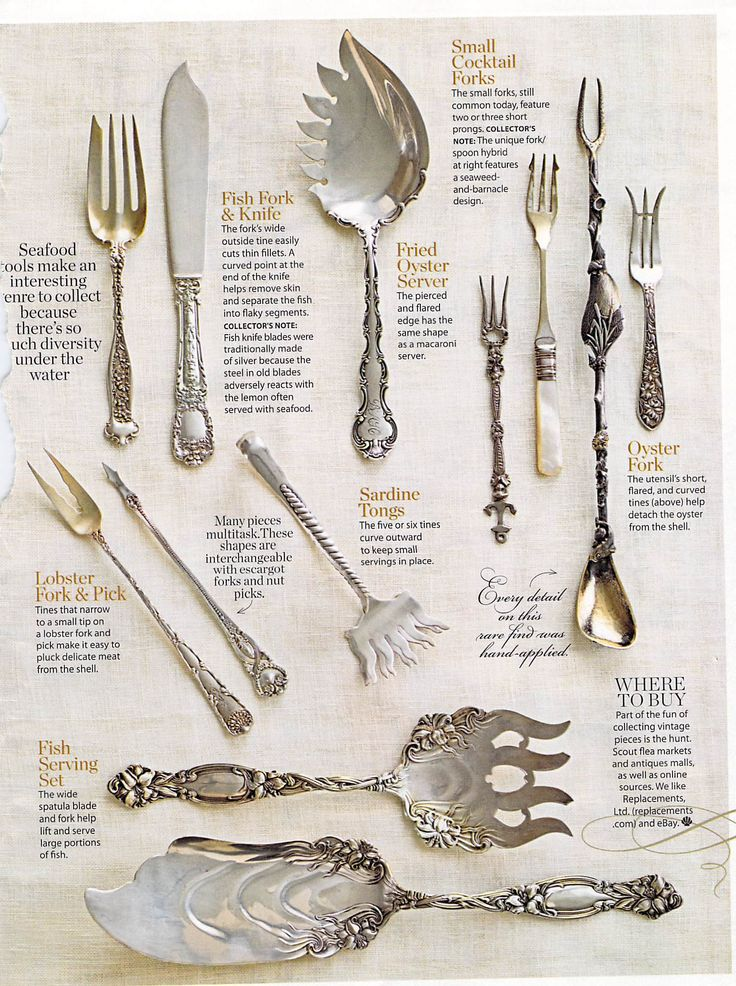 Want to add these to my antique silver collection! I love beautiful mismatched silver for parties.