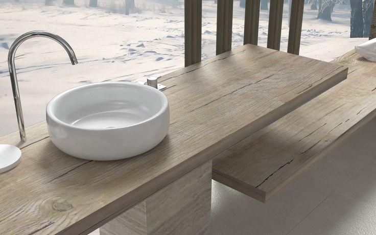Oltre 1000 idee su mensole da bagno su pinterest bagno - Cambiare colore ai mobili di legno ...