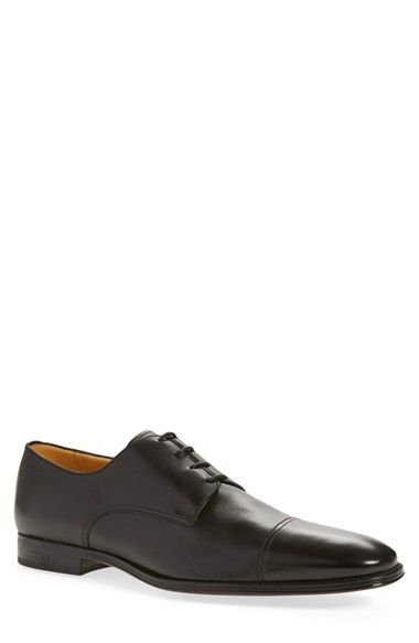IN BROWN Bally 'Timber' Cap Toe Derby (Men) available at #Nordstrom
