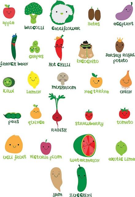 veggie fruit alphabet   Cute illustrations   Pinterest ...