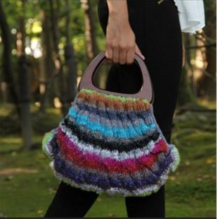 Taiyo Bag | This colorful knit bag looks like it came straight out of a department store.