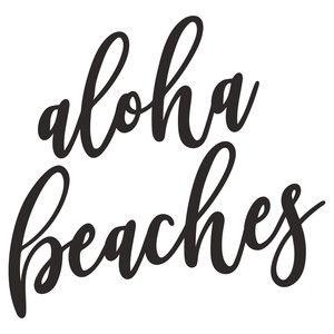 Silhouette Design Store: aloha beaches
