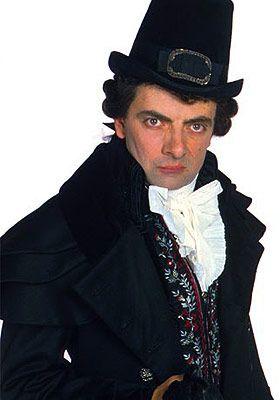Rowan Atkinson as Black Adder.