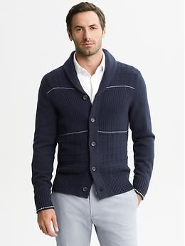 Mad Men® Collection Shawl-Collar Cardigan | #BananaRepublic #BRMadMen