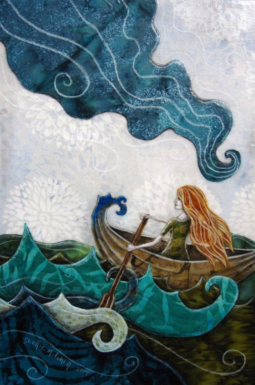 Elle a jamais regardé en arrière, rêveur lunatique aventure, mer de l'océan, printemps été, 8.5 x 11 Archiv... Reproduction par shellieartist sur Etsy https://www.etsy.com/fr/listing/183573281/elle-a-jamais-regarde-en-arriere-reveur