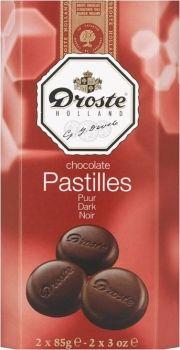 Droste Holland Chocolade Pastilles puur 170 g- Feinste Zartbitter-Schokoladentaler