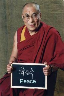 """""""Through violence, you may 'solve' one problem, but you sow the seeds for another."""" ~HH the 14th Dalai Lama"""