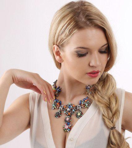 Plant Pattern Acrylic Pendant Necklaces | Stylish Beth