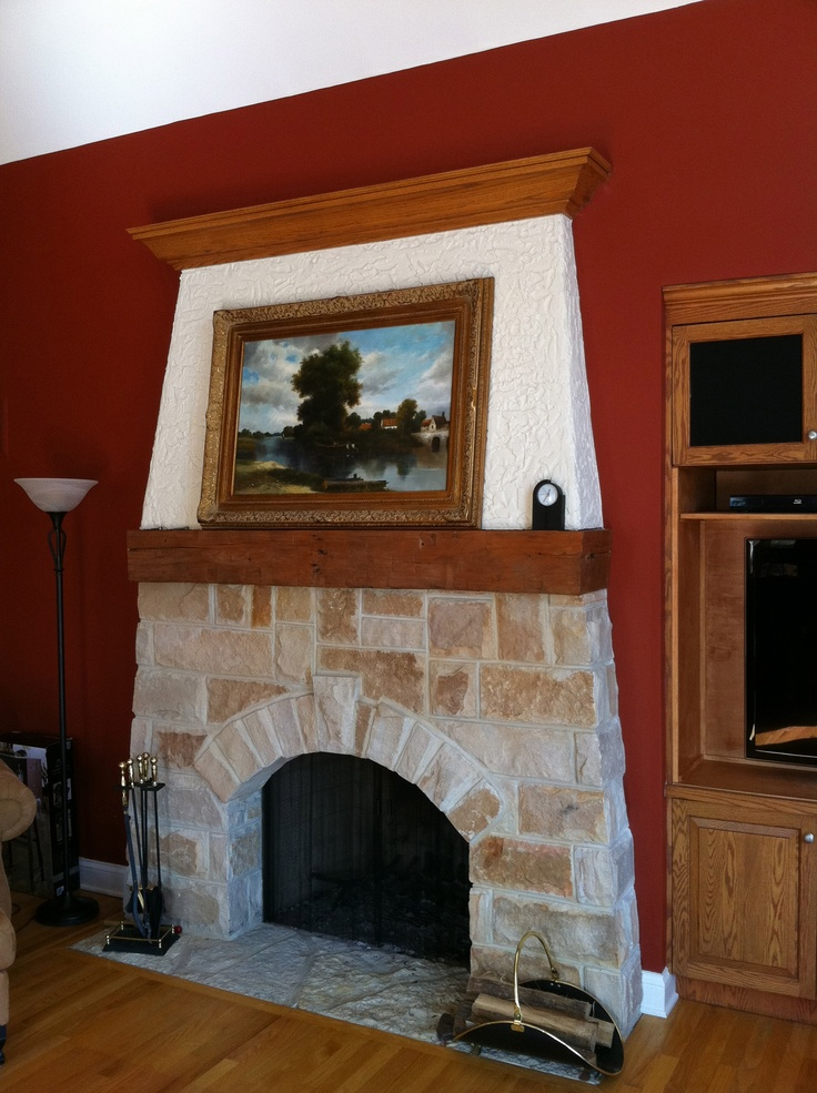 17 best images about traditional fireplaces on pinterest for Fieldstone fireplace