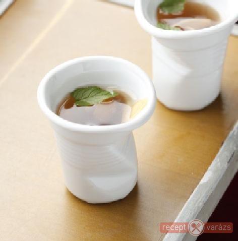 Mentás-citromos jeges tea