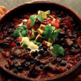 Jennifers Hobby-blog: Chili con carne van Zwarte Bonen met avocado salade