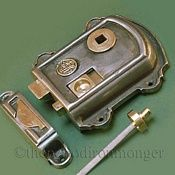 Victorian Dual Handed Cast Iron Rim Latch