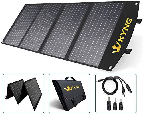 New Kyng 120w Solar Panel Charger Portable Solar Panel 120 Watts Foldable Solar Waterproof Rv Solar Kit Camping Fast Charging 18v 3 Usb Ports Charge Any Dev In 2020 Solar Kit