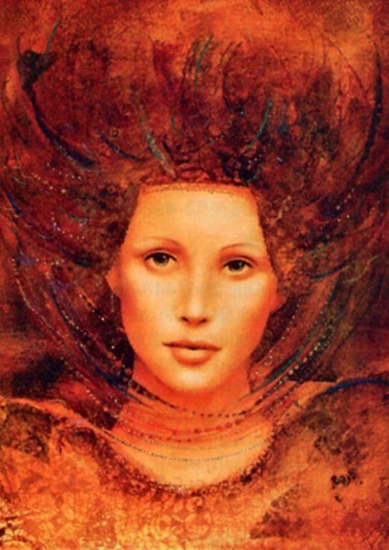 картины художников девушки с рыжими волосами - Поиск в Google