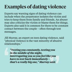 Examples of dating violence