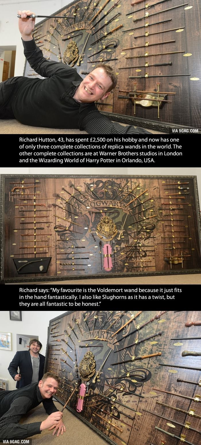 This Man Owns Every Replica Wand From The Harry Potter Films