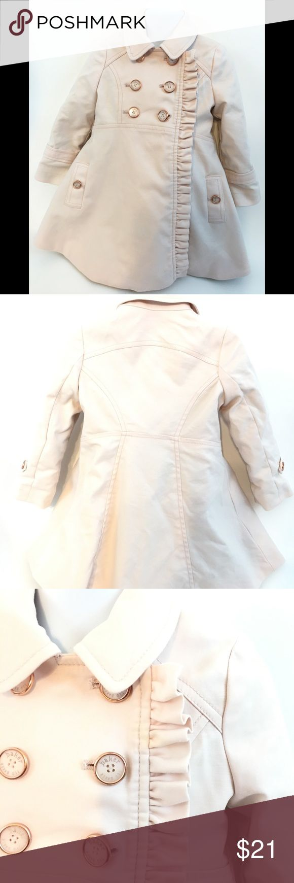 Baker Ted Baker baby girls trench coat 2 years • gently used Baker Ted Baker Coat • Some gentle signs of use can be use- see pictures to reference • 2 year  • Smoke free • NOTE: color may vary due to camera flash, lighting and monitor screen Baker by Ted Baker Jackets & Coats