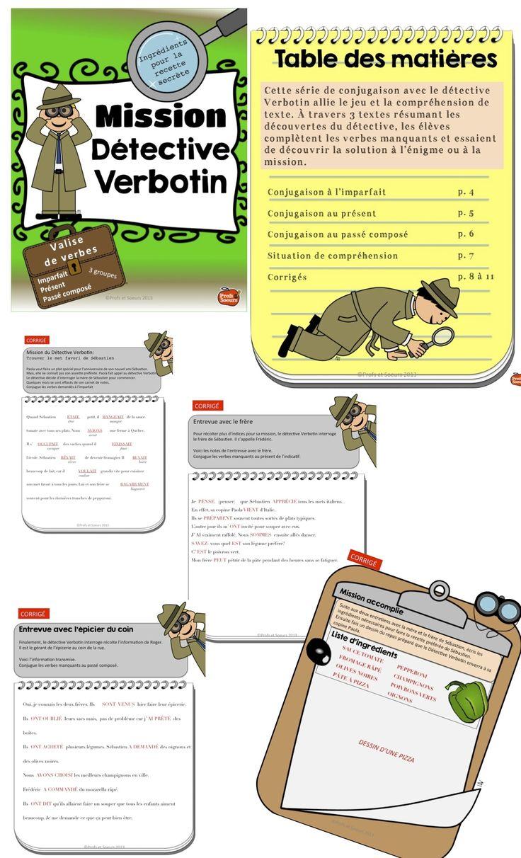 Détective Verbotin pour conjuguer tout en découvrant la réponse à l'énigme. La compréhension de texte est aussi mise à l'épreuve...
