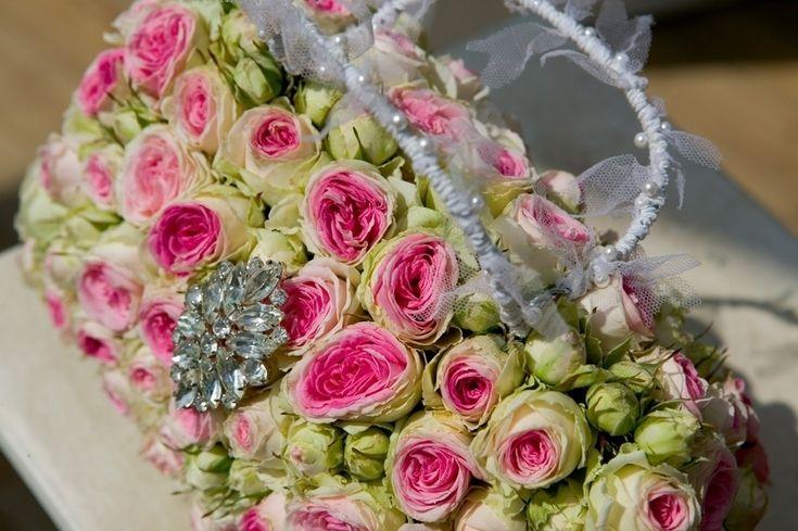 Our bespoke Wedding floral bridal handbag
