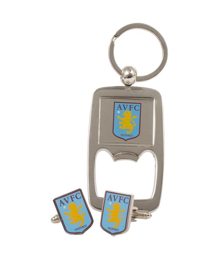 Aston Villa Cufflinks and Bottle Opener