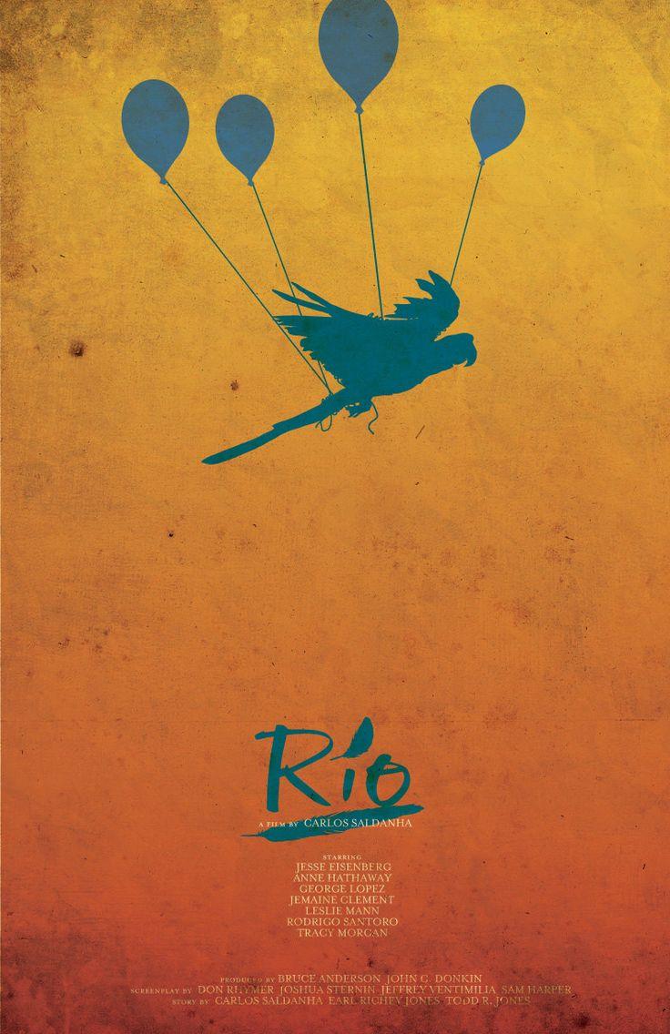 Rio (2011) ~ Minimal Movie Poster by Christian Petersen #amusementphile