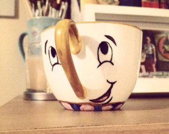 Tasse à thé puce inspirée de la belle et la par BeOurGuestGifts