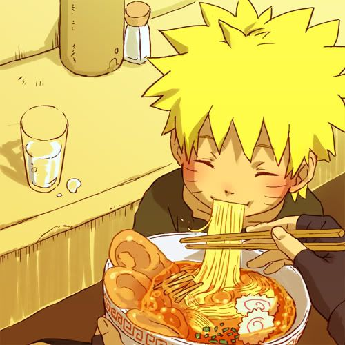Stuffing Ichiraku Ramen. - I know I have pinned this picture but I always wondered: who is holding up that bowl of ramen??? Those are not naruto's hands. They look like Kakashi's hands. So does that mean he used to take care of Naruto even before team 7??? (or is that iruka??)