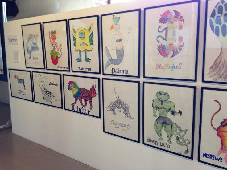 Obras de alumnado. I bienal arte y escuela