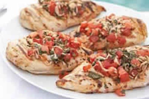 Grilled Chicken Bruschetta - 4 smartpoints