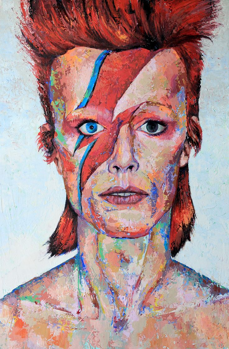 David Bowie  I  Aladdin Sane  I  acrylic on canvas  I  24x36  I  $1,000 (CDN)  I Painted by Tom Cho  #davidbowie #bowie  #aladdinsane #ziggy #ziggystardust #thinwhiteduke