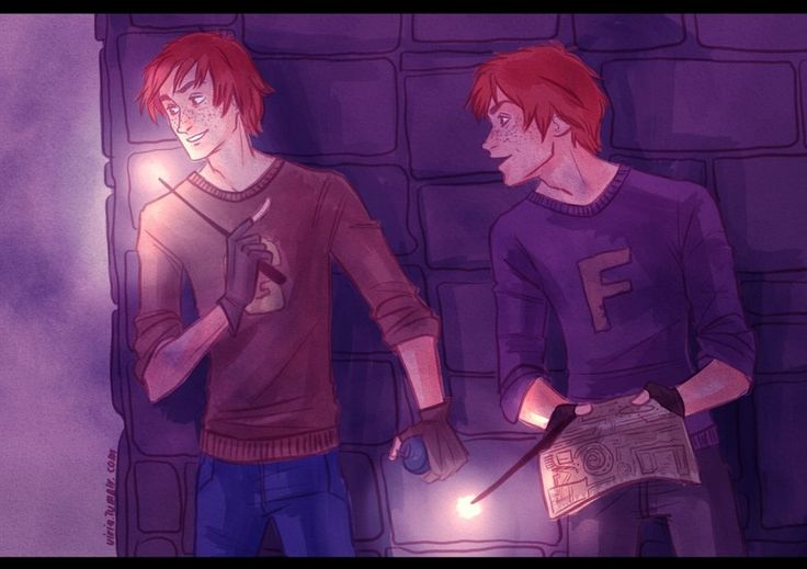 Mischief in managing by viria13 on deviantART Fred and George!
