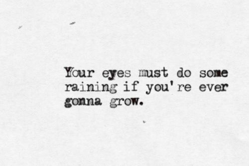 Your eyes must do some raining if you're ever gonna grow - Bowl of Oranges by Bright Eyes