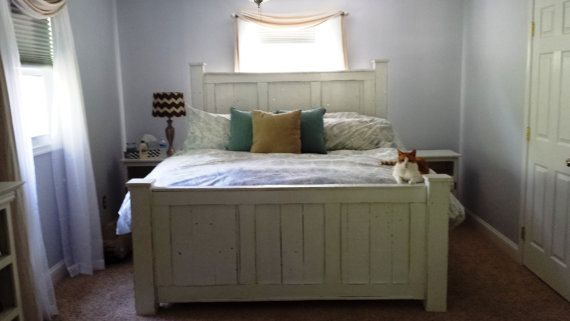 Reclaimed wood furniture/solid wood bed/king by Reclaimed4aPurpose