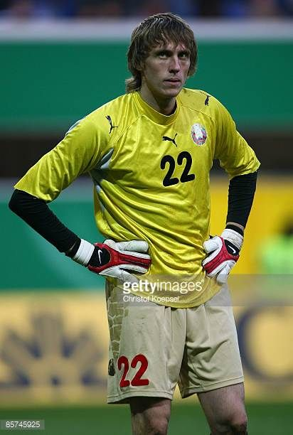 Pavel Chesnovski of Belarus is seen during the U21 International friendly match between Germany and Belarus at the paragon arena on March 31 2009 in...