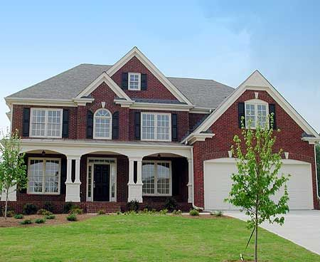 Best 25 red brick homes ideas on pinterest brick house for Traditional brick homes