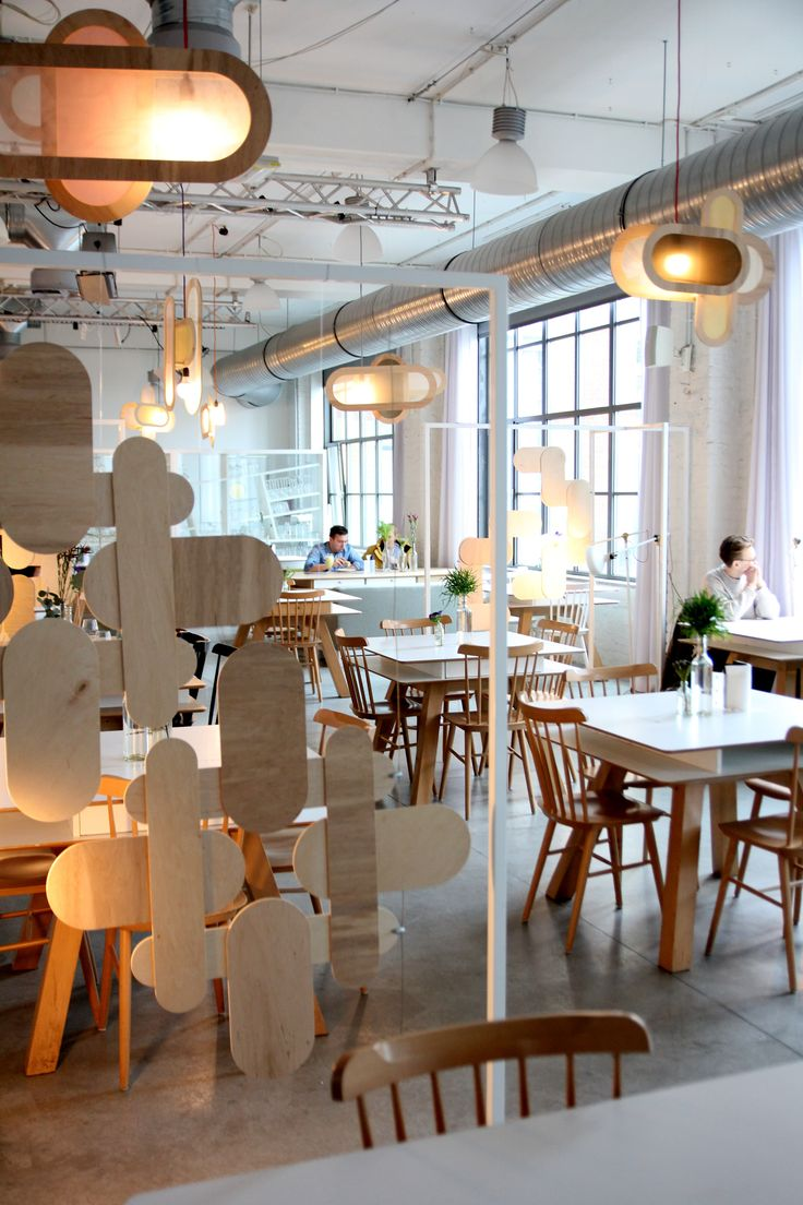 restaurant, industrial interior, spring decoration